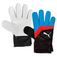 Vartininko pirštinės PUMA PUMA ONE GRIP 04147621 blue-black-red, white logo Goalie gloves