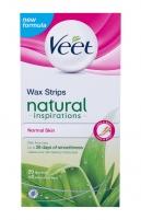 Vaško juostelės Veet Natural Inspirations 20pc Normal Skin Depiliacija