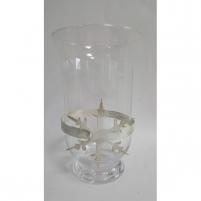 Vaza stikl. 25*15cm 2615B su kalėdine dekoracija