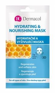 Veido kaukė Dermacol Textile moisturizing and nourishing mask for all skin types 3D (Regenerates Softens Skin) 1 pc Kaukės ir serumai veidui