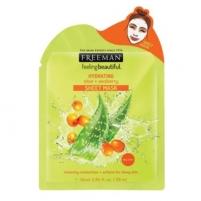 Veido kaukė Freeman (Hydrating Sheet Mask) Aloe Vera and Hydration (Hydrating Sheet Mask) 25 ml Kaukės ir serumai veidui