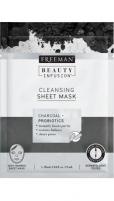 Veido kaukė Freeman Cleaning Facial Mask Activated Carbon and Probiotics Beauty Infusion ( Cleansing Sheet Mask) 25 ml Kaukės ir serumai veidui
