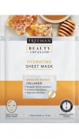 Veido kaukė Freeman Hydrating Mask Mask Honey and Collagen Beauty Infusion (Hydrating Sheet Mask) 25 ml Kaukės ir serumai veidui