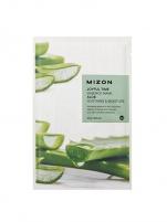 Veido kaukė Mizon 3D Face Mask with Aloe Vera for Calming and Hydration of the Face Joyful Time (Essence Mask Aloe) 23 g