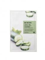 Veido kaukė Mizon 3D Face Mask with Cucumber for Joyful Time (Essence Mask Cucumber) 23 g Kaukės ir serumai veidui