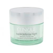Veido kremas Clinique Superdefense Night Recovery Moisturizer Oily Skin Cosmetic 50ml
