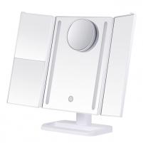 Veidrodis Deveroux Cosmetic White LED Mirror Rechargeable MR-L3013A Kitos burnos higienos prekės, komplektai