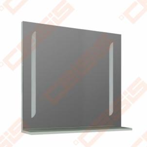 Mirror ORISTO SILVER 90 cm pločio, LED apšvietimas, pilka matinė