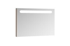 Veidrodis Ravak Chrome su apšvietimu, 80 cm cappuccino Vannas istabas skapīšus