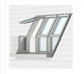 VELUX stogo terasa GEL 3065 (apatinė dalis nevarstoma) M35 78x109 cm.