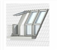 VELUX stogo terasa GEL 3065 (viršutinė dalis) M08 78x136 cm.