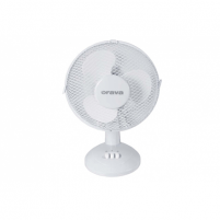 Ventiliatorius ORAVA SF-10 Table Fan, Number of speeds 2, 20 W, Oscillation, Diameter 30 cm, White Ventilatori