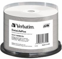 Verbatim CD-R [ spindle 50 | 700MB | 52x | white wide printable ]