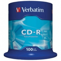 Verbatim CD-R 80/700MB 52X 100pack extra protection cake box - 43411