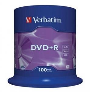 Verbatim DVD+R 4.7GB 16X 100pack matte silver/AZO ''Cake'' dėžutė - 43551