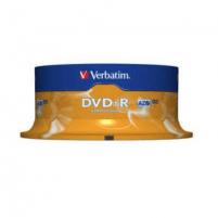 Verbatim DVD-R 4.7GB 16X 25pack matte silver/AZO ''Cake'' dėžutė - 43522
