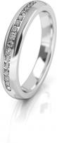 Vestuvinis žiedas Art Diamond baldo aukso su cirkoniais AUG277 Wedding rings