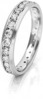 Vestuvinis žiedas Art Diamond balto aukso su cirkoniais AUGDR001 Wedding rings