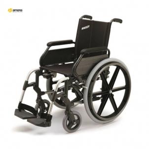 Vežimėlis neįgaliam BREEZY 105 Suglaudžiamas 37 dydis Ratiņkrēslos pieaugušajiem