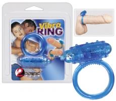 Vibruojantis varpos žiedas Vibrating cockring blue