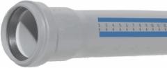 Vidaus kanalizacijos vamzdis HTEM su mova, d 50, 1500 mm Iekšējie kanalizācijas caurulēm