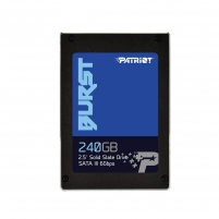 Vidinis kietas diskas Patriot SSD Burst 240GB 2.5 SATA III read/write 555/500 MBps, 3D NAND Flash