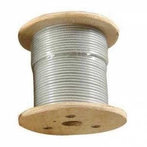 Vielinis lynas dengtas plastiku 3/5 Wire rope coated plastic