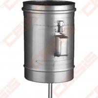 Vienasienė nerūdijančio plieno pravala JEREMIAS OV/EW01+07 Dn110 x 220 su durelėmis (210 x 140mm) ir kondensato surinkėju Skursteņi un to sastāvdaļām