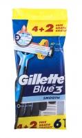 Vienkartiniai skustuvai Gillette Blue3 Smooth Razor 6vnt Vaksācija