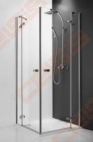 Vieno elemento varstomos dušo durys ROLTECHNIK ELEGANT LINE GDOP1/90 su brillant spalvos profiliu ir skaidriu stiklu (dešinė)