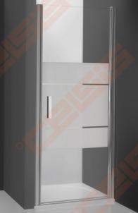 Vieno elemento varstomos dušo durys ROLTECHNIK TOWER LINE TCN1/100 skirtos montuoti į nišą su sidabro spalvos profiliu ir intima stiklu