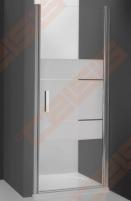 Vieno elemento varstomos dušo durys ROLTECHNIK TOWER LINE TCN1/100 skirtos montuoti į nišą su sidabro spalvos profiliu ir skaidriu stiklu