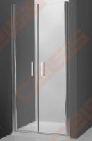 Vieno elemento varstomos dušo durys ROLTECHNIK TOWER LINE TCN2/90 skirtos montuoti į nišą su brillant spalvos profiliu ir skaidriu stiklu