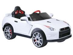 Vienvietis elektromobilis Nissan GTR R35, baltas Automašīnas bērniem