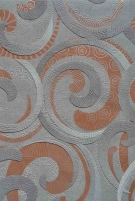 F842-18 53 cm tapetai, pilki su ornamentais Viniliniai wallpaper-download photo