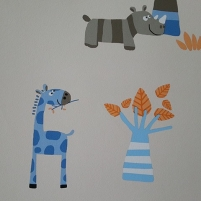 J207-01 HELLO KIDS 10,05x0,53 m tapetai, vaikiški šviesūs su laukiniai Viniliniai wallpaper-download photo