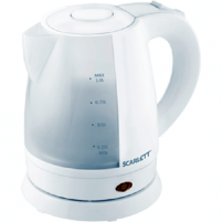 Virdulys Electric kettle Scarlett SC-EK18P40 | 1L white