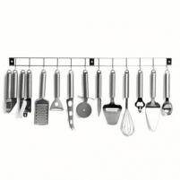 Virtuvės įrankių rinkinys KitchenArtist MEN110 Set of 12 kitchen toold on a rack KitchenArtist KitchenArtist MEN110 Kitchen tools set on a rack, Material Stainless Steel, 12 pc(s), Dishwasher proof, Stainless Steel