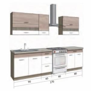 Virtuvės komplektas Econo B Virtuvės baldų komplektai