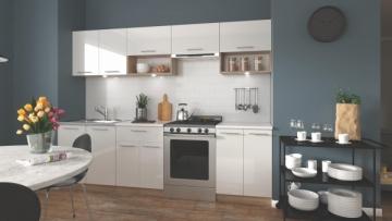 Virtuvės komplektas VIOLA 260 baltas Virtuvės baldų komplektai