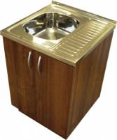 Virtuvinė spintelė, uždedamai 60cm plautuvei, riešutas (be plautuvės)