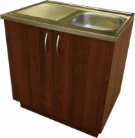 Virtuvinė spintelė, uždedamai 80cm plautuvei, riešutas (be plautuvės)