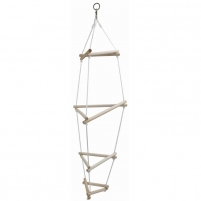 Virvinės kopėčios Triangular ladder Cord should be attached in the ladder, climbing rope, rings, trapezes
