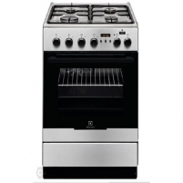 Viryklė Electrolux Cooker EKK 54952 OX Hob type Gas, Oven type Electric, Black/Inox, Width 50 cm, Electronic ignition, Grilling, Electronic, 54 L, Depth 60 cm