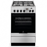 Oven Electrolux Cooker EKK 54952 OX Hob type Gas, Oven type Electric, Black/Inox, Width 50 cm, Electronic ignition, Grilling, Electronic, 54 L, Depth 60 cm
