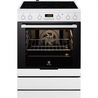 Viryklė Electrolux EKC6450AOW Cooker/Oven, Integrated timer, Hob type Vitroceramic, Oven type Electric, White, Width 60 cm, Electronic ignition, Grilling, 72, Depth 60 cm Viryklės