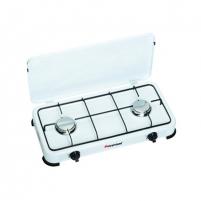Viryklė FireFriend KO-6382 Gas stove, 2 stainless steel burners (2x1,5kW), Lid, White Viryklės