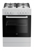 Viryklė Gas electric-cooker Beko FSE62120DW | 60 cm