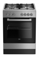 Viryklė Gas electric-cooker Beko FSE62120DX | 60cm Viryklės