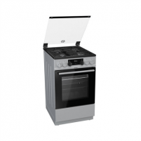 Viryklė Gorenje Cooker K5351SF Hob type Gas, Oven type Electric, Stainless steel, Width 50 cm, Electronic ignition, Grilling, LED, 62 L, Depth 60 cm Viryklės